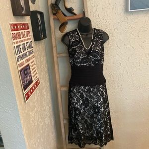 Tadashi lace cocktail dress from Neiman Marcus